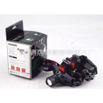 供应18650充电强光调焦头灯CREE凸透镜变焦可充电头灯 伸缩头灯