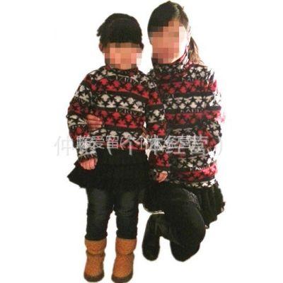 供应2012秋冬新款 韩版热卖女装 中长款 亲子 针织衫保暖绒衣 打底衫