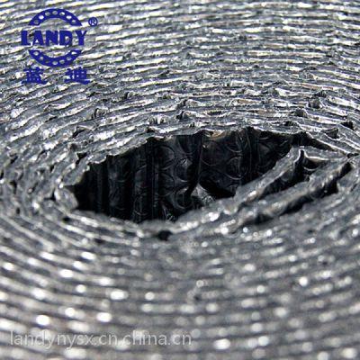 广州Landy气泡隔热材卷料 热销江浙一带 手工定制大棚建筑屋顶专用双面纯铝气泡隔热降温PE材料