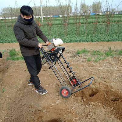 凤台县7.5大马力打坑机 富兴拖拉机挖坑机 打眼机图片