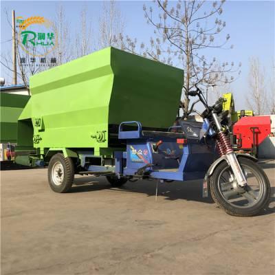 饲料车简化制作流程 专业新款电动撒料车 润华低成本喂料车