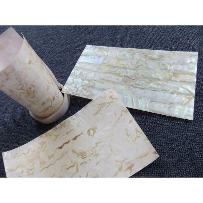 青岛海昌星贝壳供应可弯曲油花贝壳纸 家具 漆器 鱼竿专用