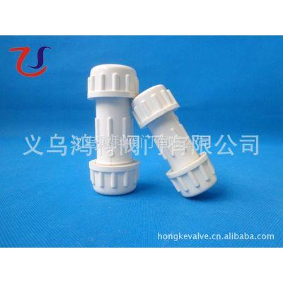 供应浅灰色外贸螺纹抢修接头/PVC快速伸缩节/管道活接头