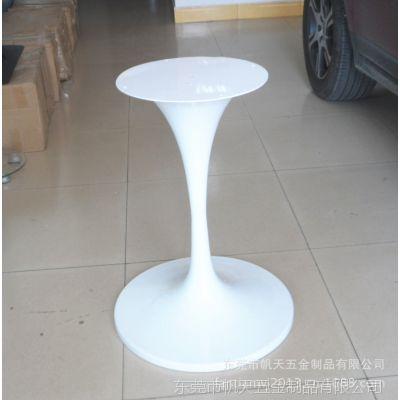 广东厂家供应铁烤漆白色圆盘桌腿/桌类茶几专用桌腿