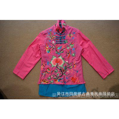 古韵古典秀女士棉麻新款原创设计民族风复古气质女性绣花衬衫批发