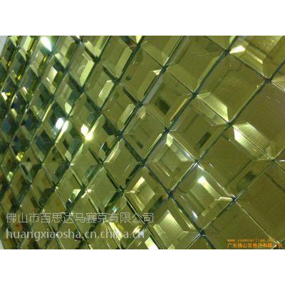 供应安徽省宿州市 5面磨边镜 玻璃马赛克 KTV包厢电视背景墙