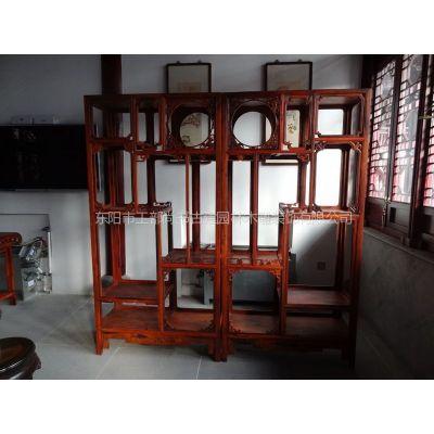 中式书柜 置纳柜 隔断柜 仿古建筑配置 可加工定做