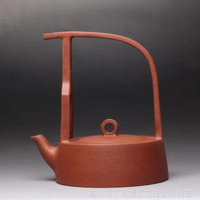 一公紫砂狂欢11.11宜兴正品原矿紫砂泥手工制作茶壶 和合提梁