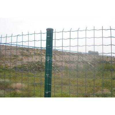 江苏常州绿色浸塑波浪形圈地围栏网