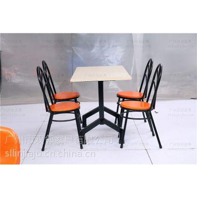 广州供应玻璃钢BL002T食堂餐桌椅