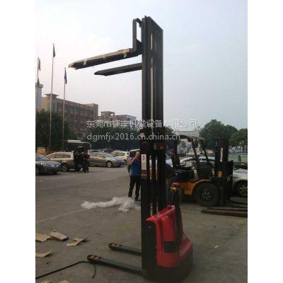 东莞镁丰CL103步行式电动堆高机 1T升3米全自动托盘堆垛叉车