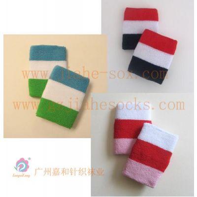 供应彩色护腕 毛巾护腕 广州嘉和针织袜业