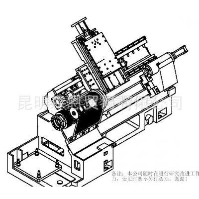 供应台正斜床身卧式数控车床光机TOM-TCK4550加工长度580