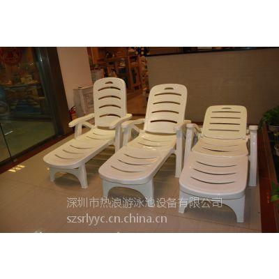 游泳池设备供应 供应可折叠塑料沙滩椅