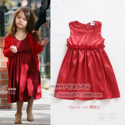 苏瑞同款 4色入 夏装新款女童公主连衣裙  4A0319