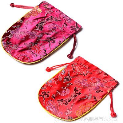 万汇大红中国风古典刺绣织锦首饰袋布水晶包装袋锦囊袋子造型古朴
