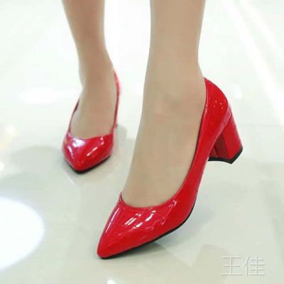 厂家直销 2015春季女单鞋尖头女鞋新款夜店高跟鞋 皮鞋地摊鞋批发