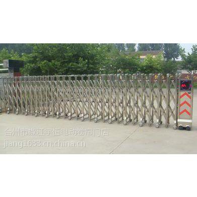 天台白鹤镇厂门口伸缩门道闸挡车器销售定做安装厂家