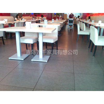 供应青岛厂家专业加工酒店桌椅宴会会所桌椅卡座沙发餐桌餐椅咖啡桌西餐桌定做