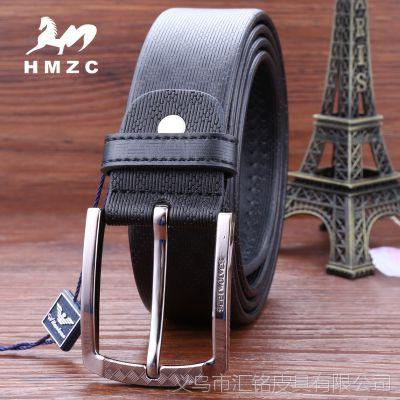 HMZC 品牌二层皮男士腰带 百搭休闲男士爆款皮带 混批批发