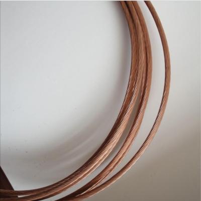 铜包钢接地绞线由一定根数的铜包钢单线绞制而成