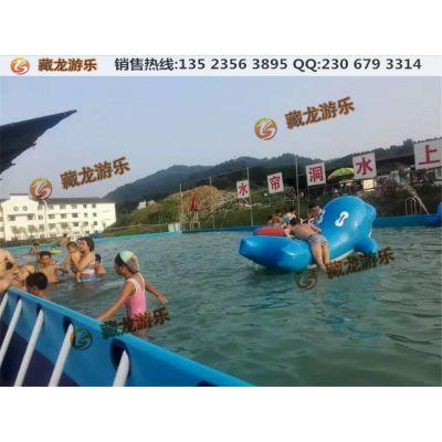 厂家大型充气游泳池支架水池,移动水上乐园设备成人钢架夹网布水池
