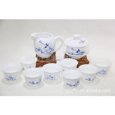 德化陶瓷供应 批发大方实用洁净 青花瓷茶具套装 精品茶具套装