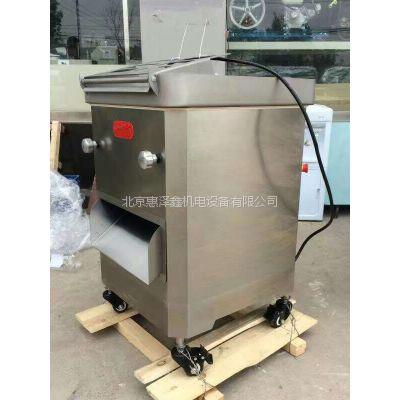 锡林浩特牛肉切条机 赤峰切肉机价格---惠泽鑫进口300肉丝肉片一体机