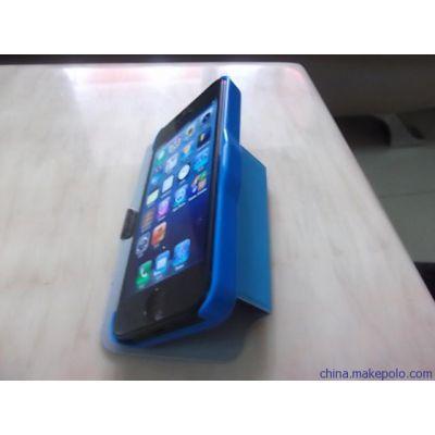 供应苹果iphone5可支撑左右开手机保护套