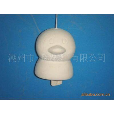 供应DIY陶瓷鸭子风铃 DIY风铃 陶瓷风铃 DIY卡通造型