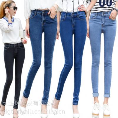 2017新款女装夏季牛仔裤 弹力小脚牛仔裤好货低价牛仔裤几元牛仔