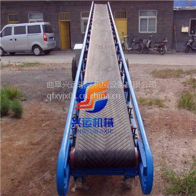 平行托棍袋装物料输送机,定制柴油动力皮带输送机,固定爬坡式装车传送机