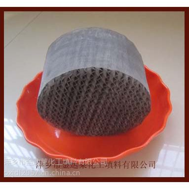 供应金属不锈钢丝网波纹填料 规格齐全 真空精馏精密精馏用金属丝网波纹填料