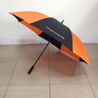 深圳雨伞 厂家直销 27寸全自动纤维高尔夫伞 订做高尔夫伞