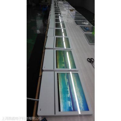 奉贤广告机厂家提供19寸壁挂超薄版白色电梯楼宇连锁店信息发布
