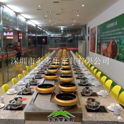 深圳回转寿司设备 广东回转火锅设备 定做旋转火锅传送带