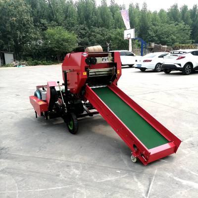 智能化青储饲料打包机 全新普通型青储饲料机 3-5吨饲料加工设备