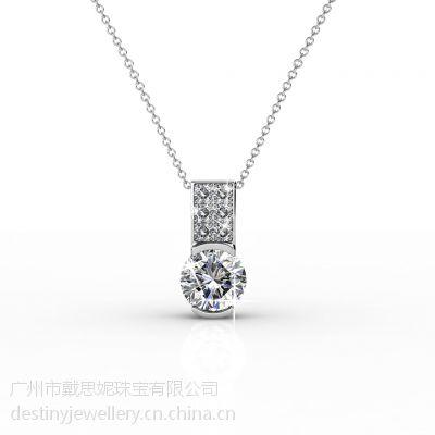 戴思妮珠宝采用施华洛世奇元素水晶项链饰品工厂批发直销