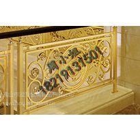 组合铝艺楼梯护栏 长沙K金立柱镂空雕花楼梯扶手