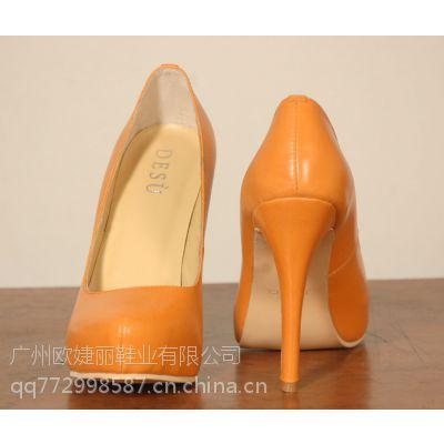 真皮女鞋定做 时装高跟鞋定制