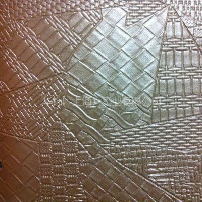 厂家百余纹路供应pvc装饰革软包革,三角形编织纹格子形状皮革