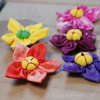 可爱漂亮彩色多样 布艺配件南瓜花(10个)  原创手工礼物