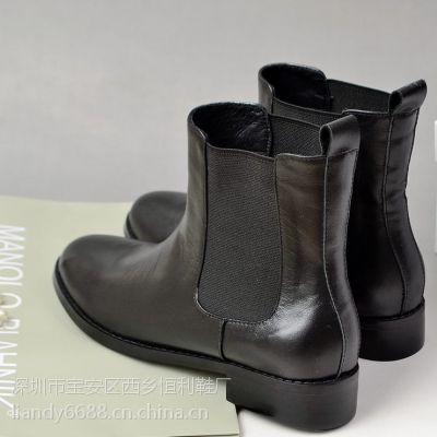 鞋厂供应新款各种靴子Boots加工生产定制外贸高档时装真皮中筒靴