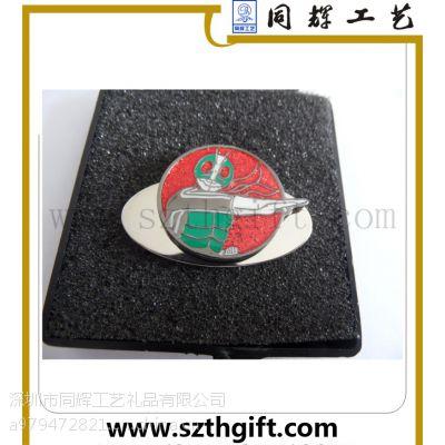 供应金属高尔夫帽夹套装 珐琅填色高档帽夹来图稿定做 同辉五金