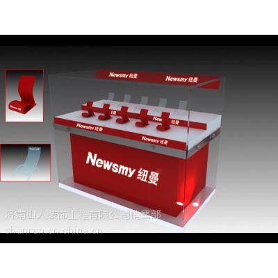 济南展柜设计制作一条龙服务,济南O2O展柜线上服务公司,济南数码展柜,手机柜台,济南配件柜,货架设计