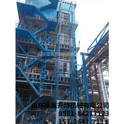 升高11米导轨式升降机/载重1~51吨导轨式升降平台