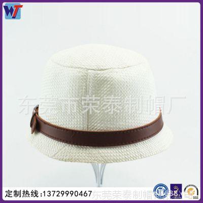 新款男女士情侣夏季大沿草帽 英伦太阳帽 遮阳礼帽透气草编沙滩帽