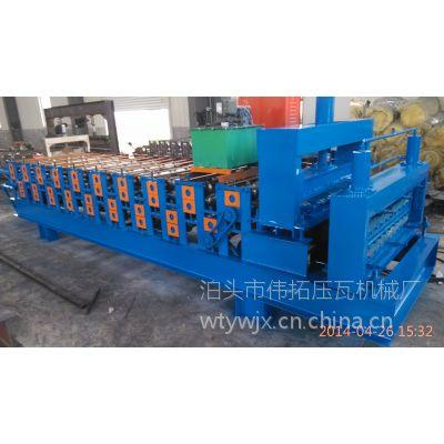 伟拓压瓦机厂生产的的双层压瓦机车厢板设备质量不断提高,价格一动不动