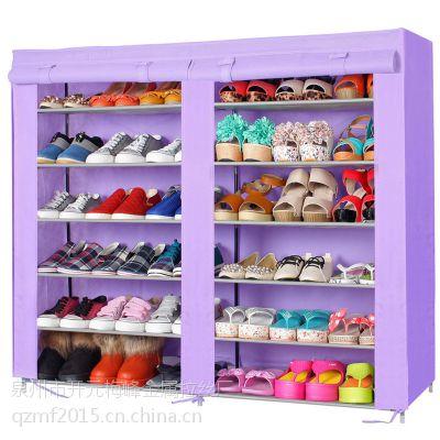 厂家批发梅峰无纺布简易双排6层防尘家用大容量组合收纳鞋柜1212