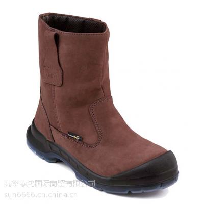 防水磨绒皮革(牛巴皮)工鞋